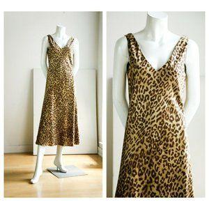 Jones NewYork Signature Animal Print SilkMid Dress